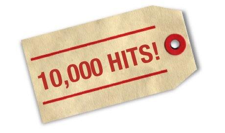 10000 посещений!