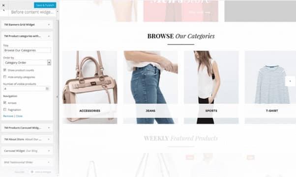 WooCommerce Package TM Категории товаров с миниатюрами
